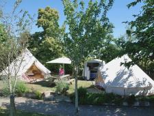 magnifique camping avec piscine en pleine nature avec vue exceptionnelle