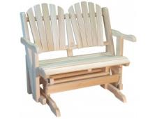 Rocking Chair Canadien Love Seat 2 places en Cèdre Canada