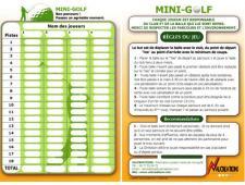 Cartons de score pour minigolf