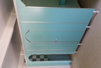 cabines cloison douche et wc.