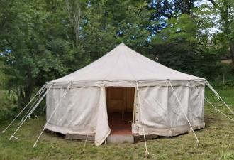 Tente ronde type yourt coton