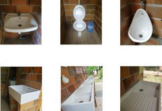 WC, urinoirs, bacs à vaisselle